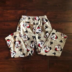 NWOT Kids Mickey Mouse Holiday Pajama Pants Fleece